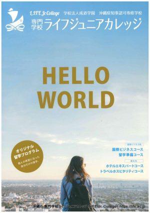 1 沖縄の 専門学校ライフジュニアカレッジ LIFE Jr. College Okinawa 資料請求 Material DOCUMENT REQUEST Form フォーム Pamphlet パンフレット Front Cover フロントカバー HELLO WORLD