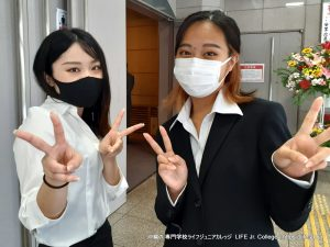 沖縄専門学校ライフジュニアカレッジ 入学式 2021 Entrance Ceremony LIFE Jr. College Okinawa - Preparation Japanese Student Volunteers