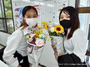 沖縄専門学校ライフジュニアカレッジ 入学式 2021 Entrance Ceremony LIFE Jr. College Okinawa - 2nd Year Japanese students