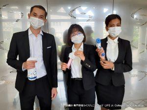 沖縄専門学校ライフジュニアカレッジ 入学式 2021 Entrance Ceremony LIFE Jr. College Okinawa - Preparation Student Volunteers