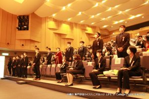 LIFE Jr. College 2021 Graduation Ceremony International students receiving diplomas 2
