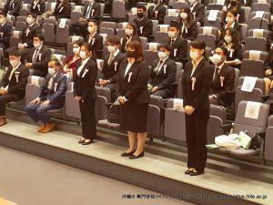 LIFE Jr. College 2021 Graduation Ceremony Japanese students receiving diplomas 1