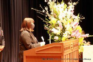 LIFE Jr. College 2021 Graduation Ceremony students speech 2B